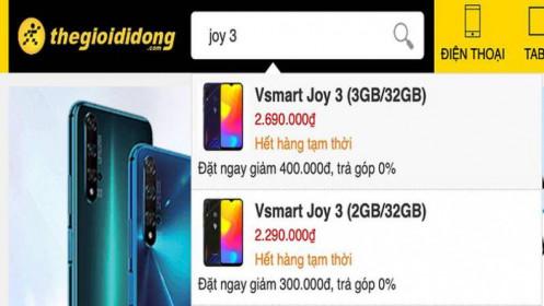 12.000 smartphone hết veo sau 14h lên kệ, Vsmart Joy 3 của tỷ phú Phạm Nhật Vượng lập kỉ lục vô tiền khoáng hậu