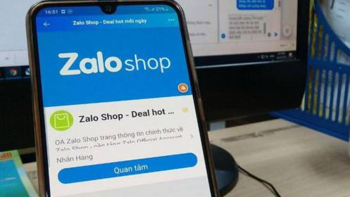 Chưa có giấy phép hoạt động sàn thương mại điện tử, Zalo Shop vẫn thu phí người dùng