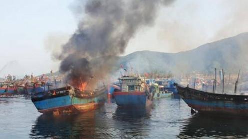 Thông tin tiếp tục về vụ cháy 3 tàu cá tại Âu thuyền Thọ Quang, Đà Nẵng