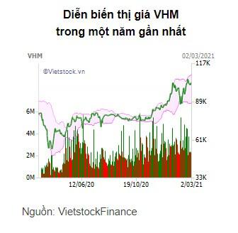 VinFast nhận chuyển nhượng gần 90 triệu cổ phiếu VHM