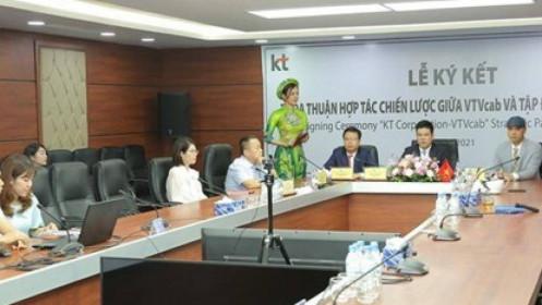 Tập đoàn KT Corp hợp tác với VTVCab phát triển dịch vụ nghe nhạc trực tuyến tại Việt Nam