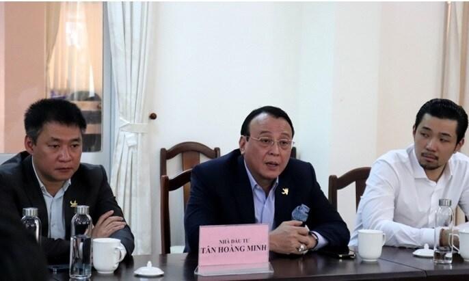 Lãnh đạo tỉnh Phú Yên làm việc với Tập đoàn Tân Hoàng Minh