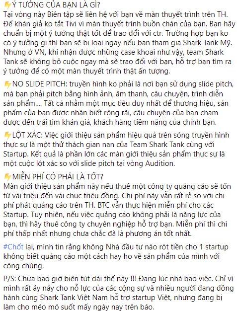 """CEO Lê Hạnh: """"Màn quảng cáo sản phẩm ngoạn mục của các Startup hay là trò giải trí tầm thường"""""""