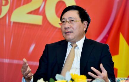 Phó Thủ tướng Phạm Bình Minh trả lời báo chí về đối ngoại Việt Nam năm 2019 và định hướng 2020