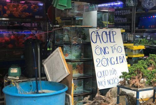 Cá chép đắt hàng ngày ông Công ông Táo