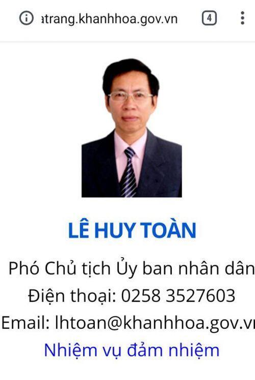 Sau khởi tố hơn 1 năm, bị can Lê Huy Toàn vẫn là phó chủ tịch UBND TP Nha Trang, vì sao?