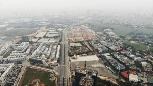 Toàn cảnhcon đường 1.500 tỷ nối Nguyễn Xiển - Xa La