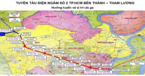 TP.HCM cần 1.489 tỷ đồng đầu tư hệ thống hạ tầng xung quanh 10 nhà ga tuyến metro số 2