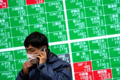 Cổ phiếu châu Á tiếp tục bị bán tháo, Dow Jones futures giảm 1.200 điểm