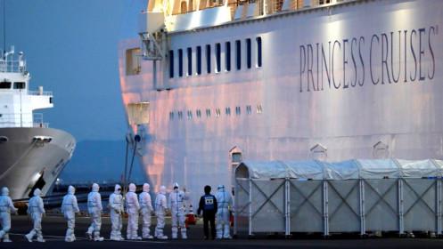 Virus Corona sống sót đến 17 ngày trên du thuyền ở Nhật Bản
