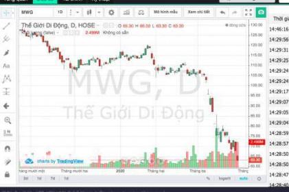 """Áp lực đóng cửa hệ thống khiến cổ phiếu MWG """"lau sàn"""""""