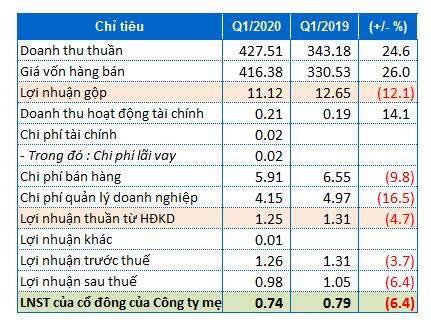 Lãi ròng quý 1/2020 của PSE giảm nhẹ