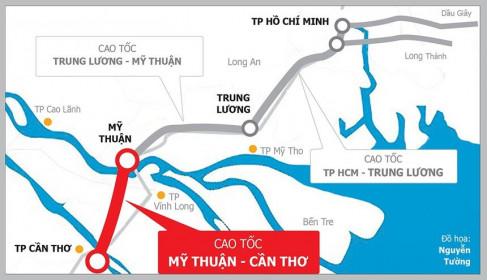 Đề xuất nhượng quyền thu phí cao tốc Mỹ Thuận - Cần Thơ sau khi hoàn thành vào năm 2023