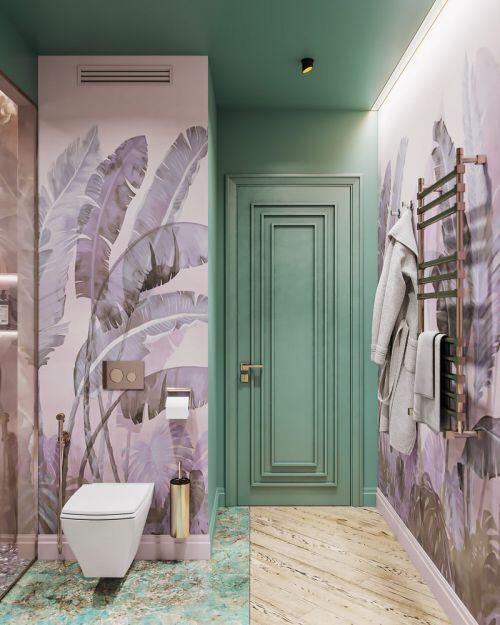 Ngôi nhà mang phong cách Art Deco rực rỡ sắc màu