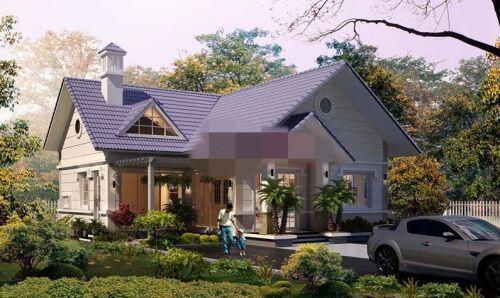 10 mẫu biệt thự mái thái chi phí thấp đẹp nhất 2020