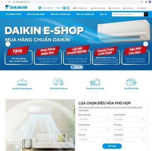 Ra mắt trang TMĐT Daikin E-Shop đầu tiên trong ngành điều hòa