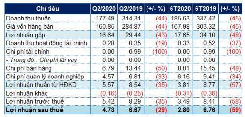 Nợ tăng đột biến, lãi ròng nửa đầu năm 2020 của SMN giảm 59%