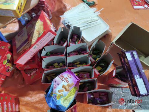 Hơn 3 tấn bánh kẹo hết đát được 'phù phép' thành hàng mới tuồn ra thị trường