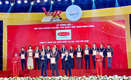 Dai-ichi Life VN xếp hạng 100 trong Top 500 Doanh nghiệp lớn nhất VN năm 2020
