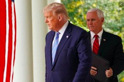 """Tổng thống Trump và """"phó tướng"""" Mike Pence làm hòa"""