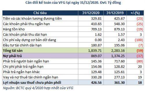 VFG: Lãi ròng tăng nhưng dòng tiền kinh doanh âm