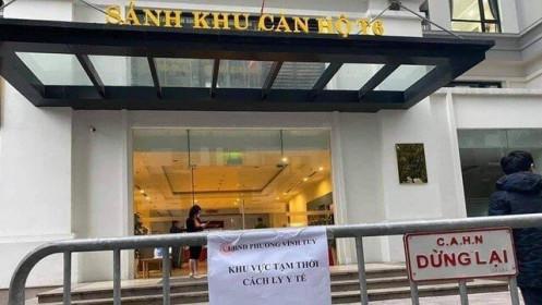 Covid-19 ở Hà Nội: Cách ly y tế tòa nhà ở Times City