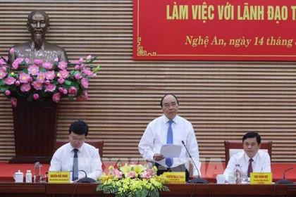 Thủ tướng Nguyễn Xuân Phúc thăm và làm việc tại tỉnh Nghệ An