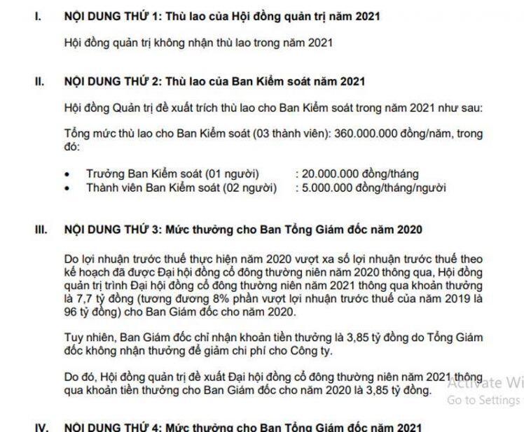 Bà Nguyễn Thanh Phượng nhận 0 đồng, tổng giám đốc từ chối khoản tiền 4 tỷ