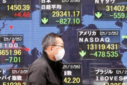 Chứng khoán châu Á giảm, nhà đầu tư lo ngại đà phục hồi kinh tế thế giới