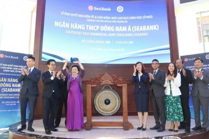 Madam Nga bày tỏ cảm xúc đặc biệt trong màu tím ngày chào sản cổ phiếu của SeABank