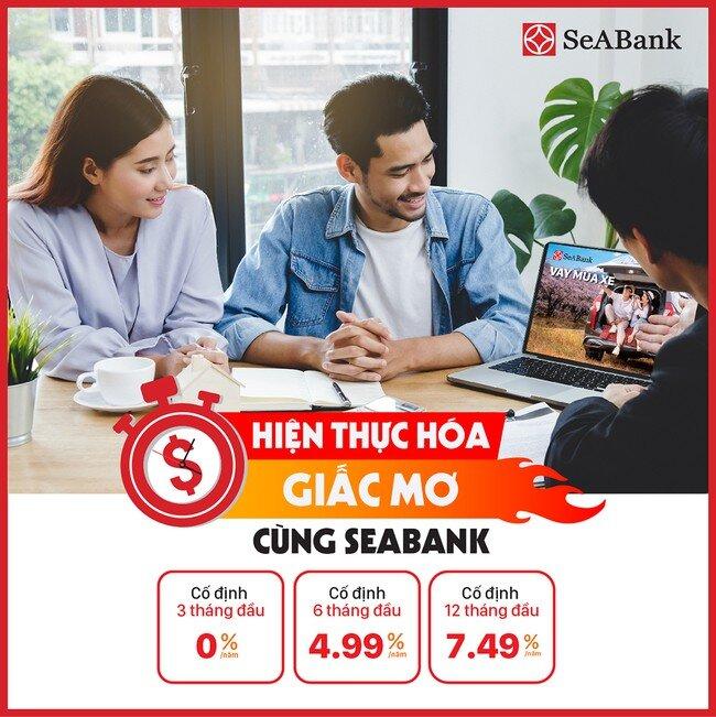 SeABank tung lãi suất cho vay ưu đãi chỉ từ 0%/năm