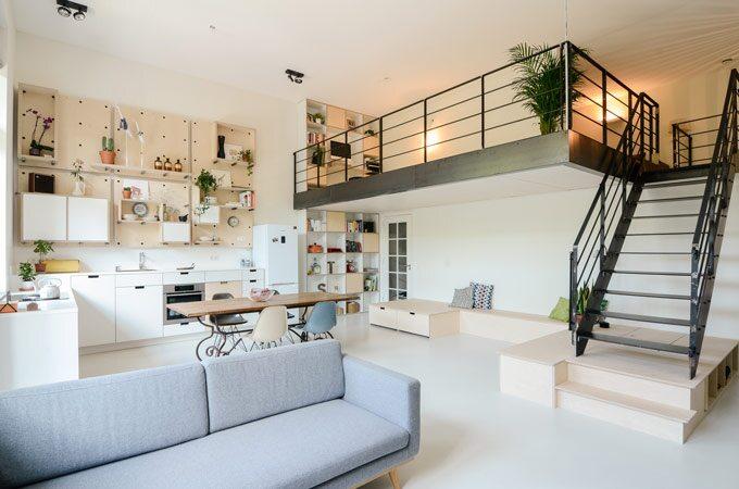 Các mẫu thiết kế gác lửng độc đáo cho căn nhà 50m2
