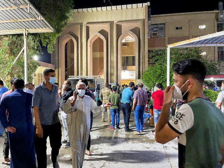 Bệnh viện dành cho bệnh nhân covid-19 ở Iraq phát hỏa, 27 người chết