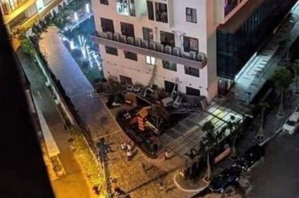 Hà Nội: Phong tỏa hiện trường vụ sập dàn cục nóng điều hòa chung cư An Bình Plaza