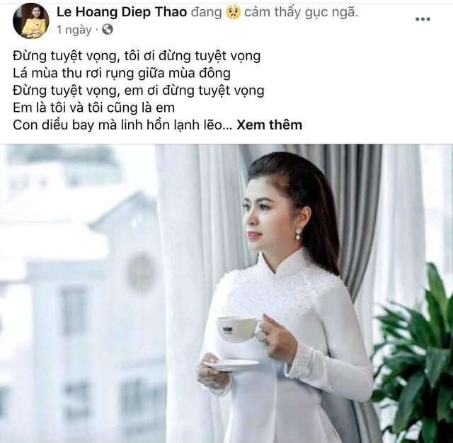 """Bà Lê Hoàng Diệp Thảo nói """"gục ngã"""" sau vụ li hôn nghìn tỷ với """"Vua cà phê"""""""