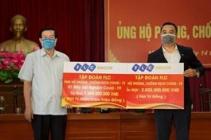 Tập đoàn FLC ủng hộ 3.5 tỷ đồng chung tay cùng Vĩnh Phúc chống dịch Covid-19