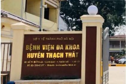 Phong tỏa tạm thời Khoa Truyền nhiễm Bệnh viện Đa khoa Thạch Thất, Hà Nội