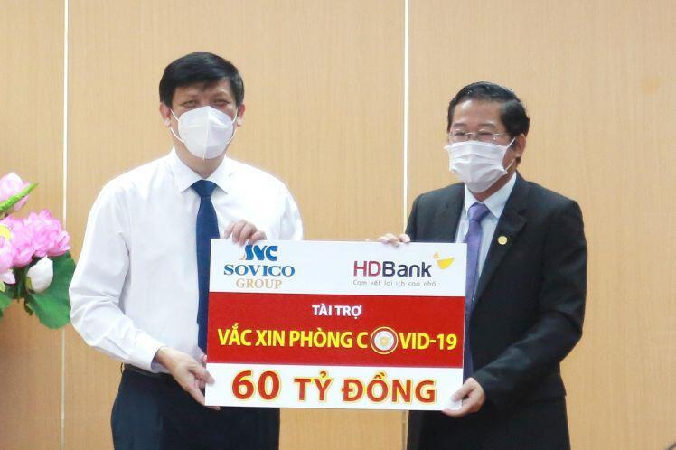 Sovico Group và HDBank ủng hộ 60 tỷ đồng cho chương trình Vaccine phòng ngừa COVID-19