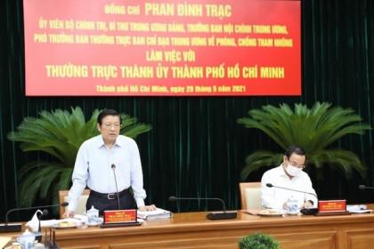 Trưởng Ban Nội chính Trung ương đề nghị TP HCM đẩy nhanh xử lý vụ án và sai phạm lớn
