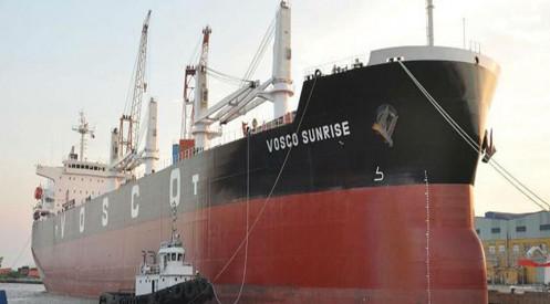 Vận tải Biển Việt Nam (VOS) liên tiếp tăng trần bất chấp còn treo khoản lỗ luỹ kế 940,7 tỷ đồng