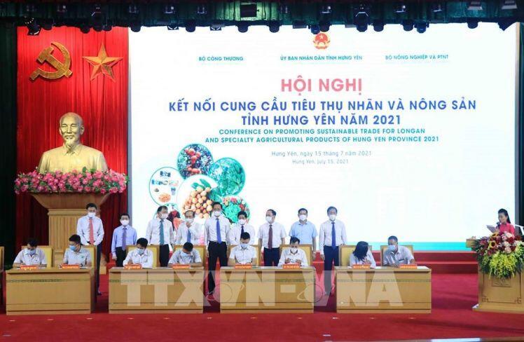 Kết nối cung cầu tiêu thụ nhãn và nông sản tỉnh Hưng Yên