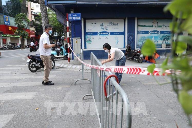Hà Nội phong toả tạm thời phố Bùi Thị Xuân