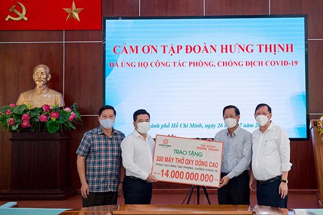 Tập đoàn Hưng Thịnh hỗ trợ hàng trăm tỉ đồng cho TP Hồ Chí Minh chống dịch COVID-19