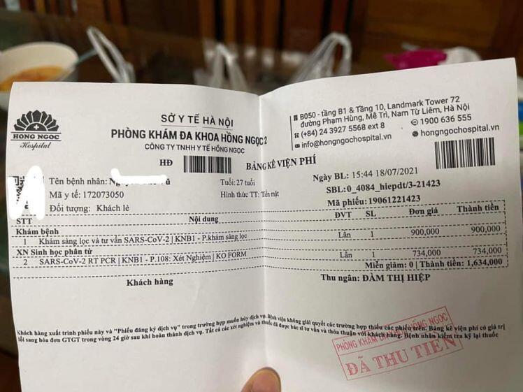 """Vụ xét nghiệm Covid-19 phải trả thêm 900.000 đồng: """"Hé lộ"""" kết quả kinh doanh của Bệnh viện Hồng Ngọc"""