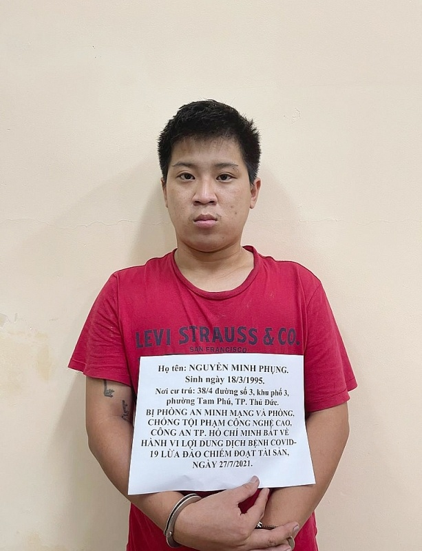 Thành phố Hồ Chí Minh: Bắt giữ đối tượng lợi dụng dịch bệnh Covid-19 để lừa đảo chiếm đoạt tài sản