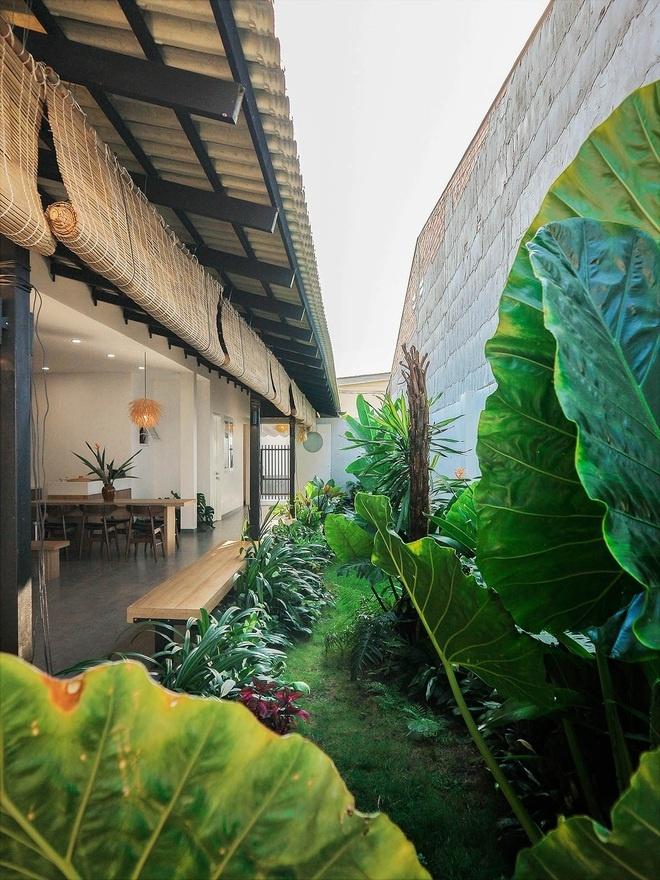Ngôi nhà Tây Ninh thiết kế mở với vườn cây xanh của gia đình 3 thế hệ
