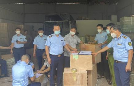 Bắc Ninh: Thu giữ gần 50 tấn hàng có dấu hiệu giả mạo nhãn hiệu nổi tiếng