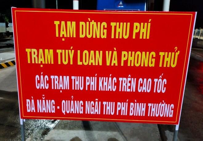 Công bố phương án thu phí cao tốc Đà Nẵng - Quảng Ngãi khi giãn cách xã hội