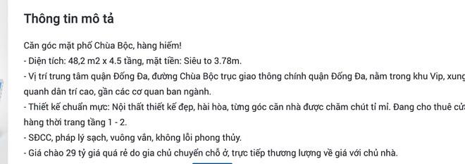 Tin rao bán nhà phố ở Chùa Bộc bất ngờ tăng vọt, giá 300-600 triệu đồng/m2