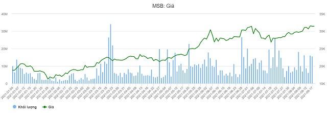 MSB: Công ty liên quan Thành viên HĐQT độc lập đăng ký bán 8 triệu cổ phiếu